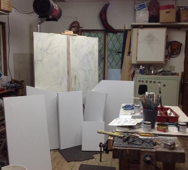 David Lane's studio