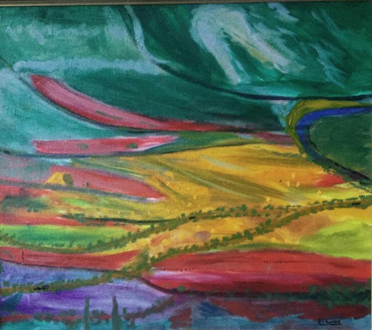 The Flower Growing Valley of Dragunin in Harvest Seaon